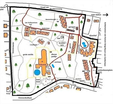Miniatuur plattegrond Vegetarisch Woonpark Ommershof